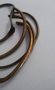Bundle💋 Vintag brass bangle cuff bracelet lot of5